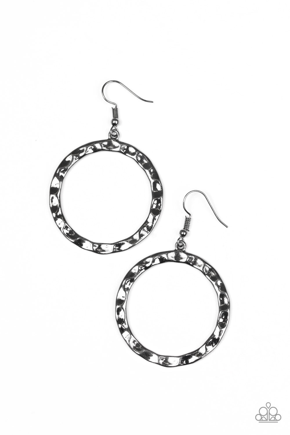 five-dollar-jewelry-hammer-time-black-earrings-paparazzi-accessories