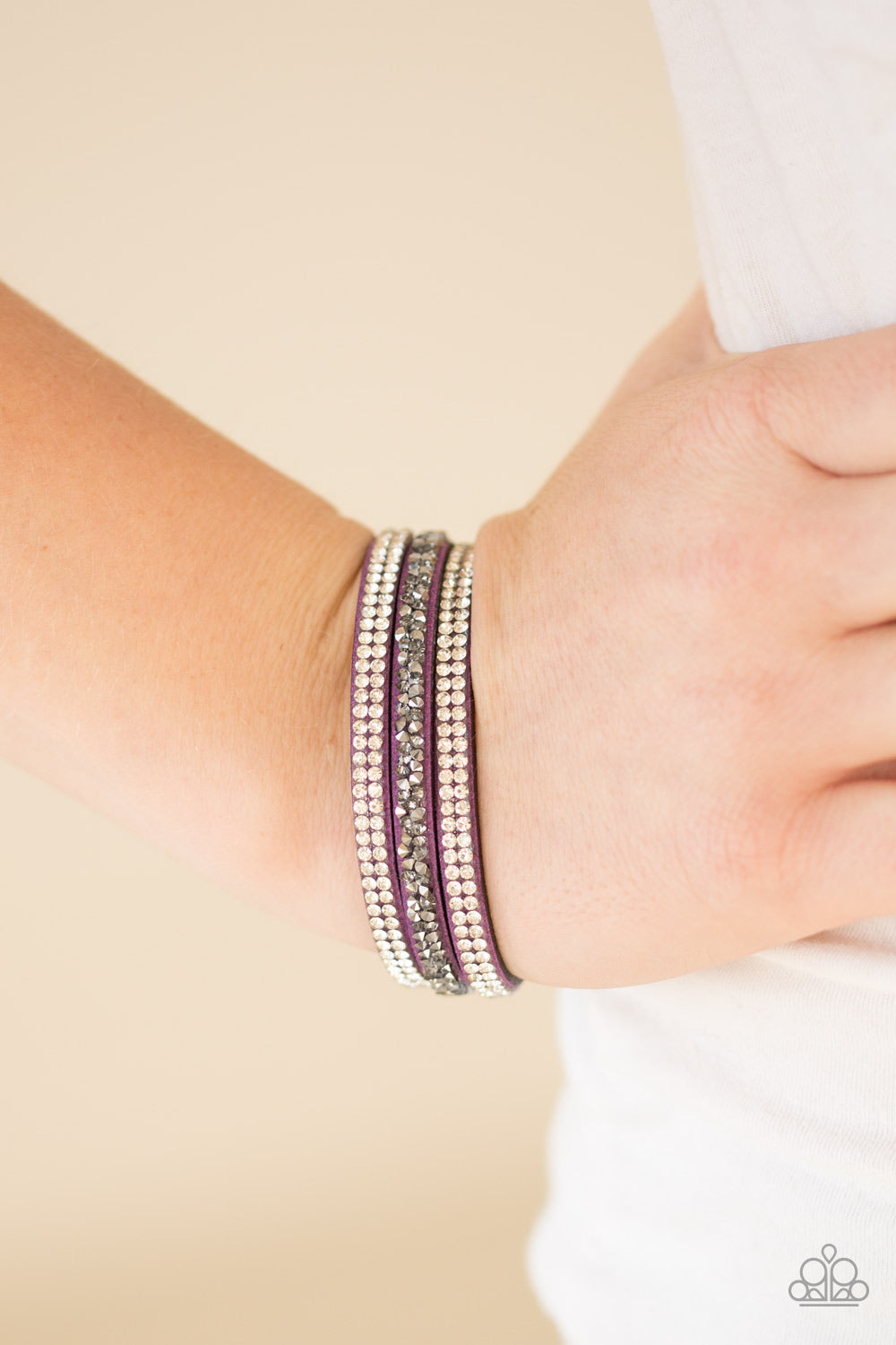 Mega Glam - Purple Bracelet - Paparazzi Accessories