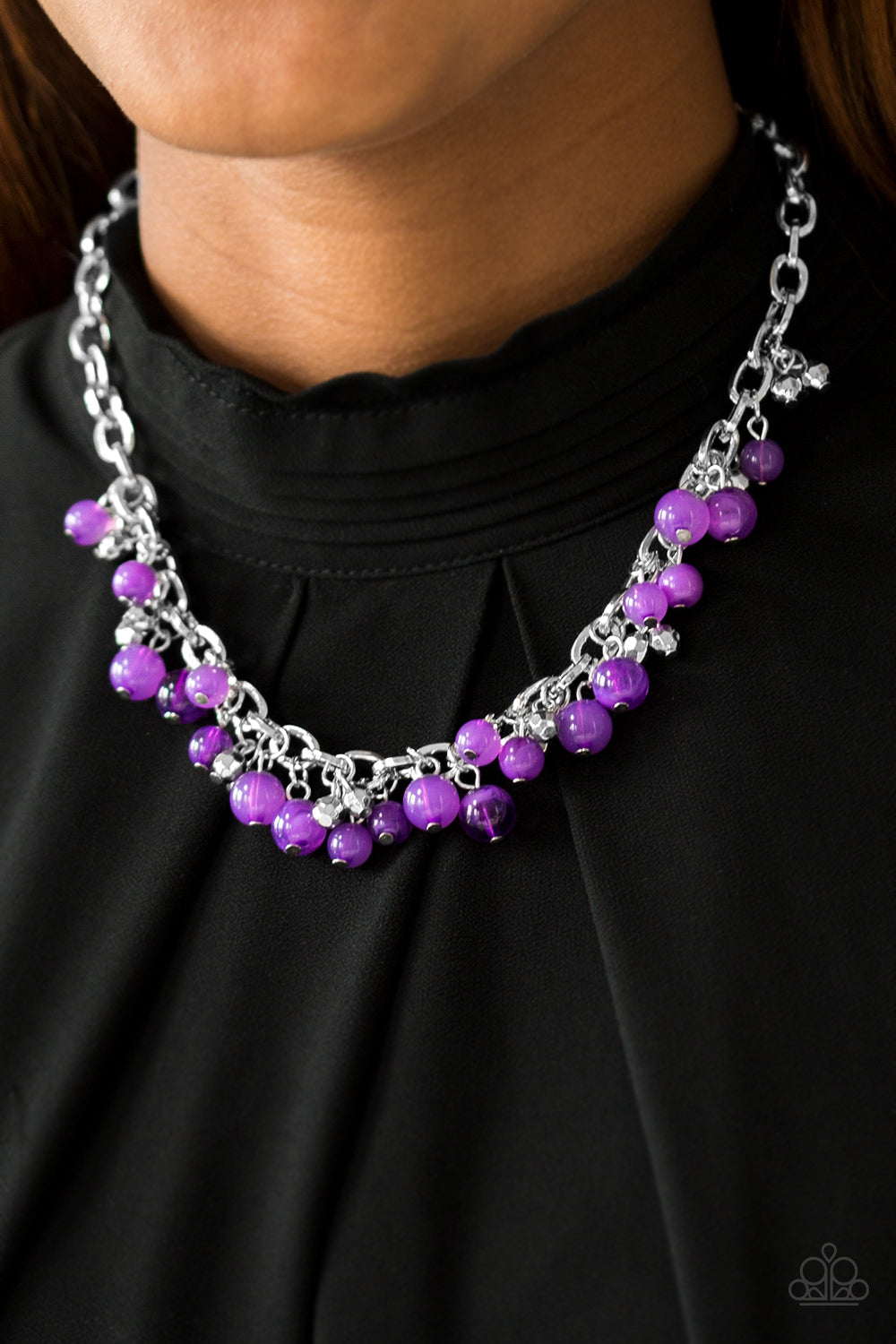 Palm Beach Boutique - Purple Necklace - Paparazzi Accessories