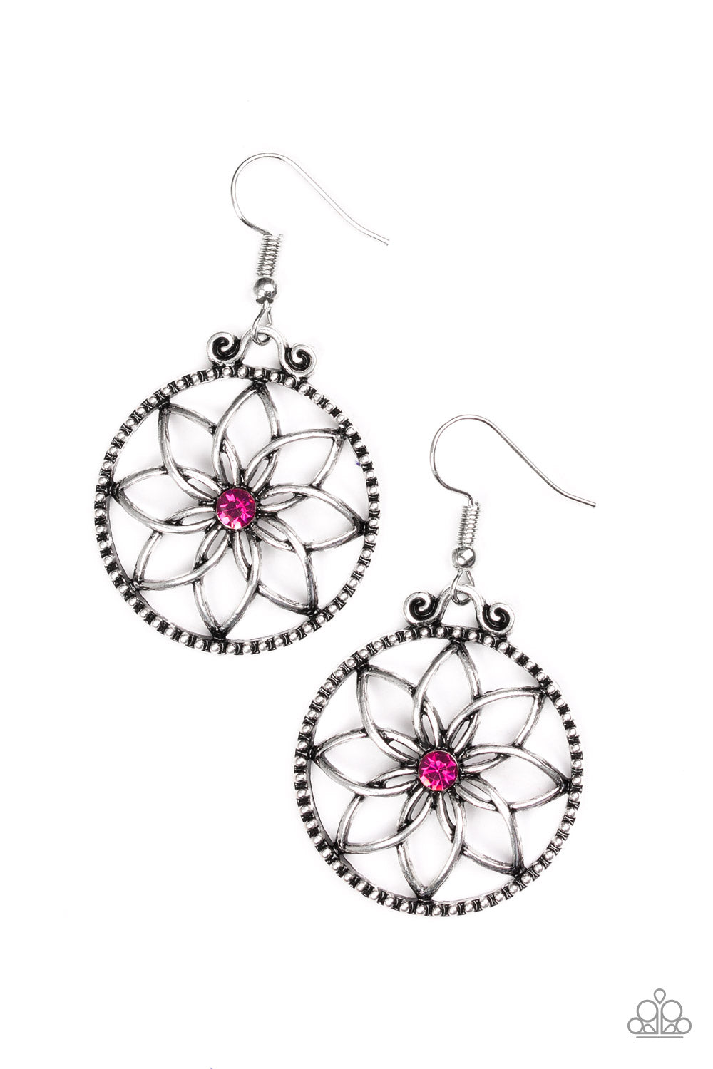 five-dollar-jewelry-bloom-bloom-pink-earrings-paparazzi-accessories