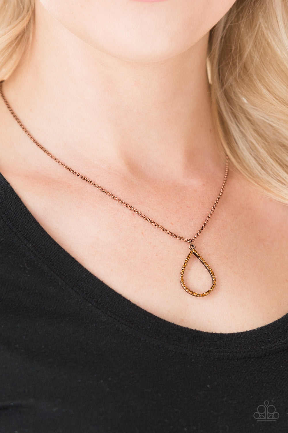 Timeless Twinkle - Copper Necklace - Paparazzi Accessories
