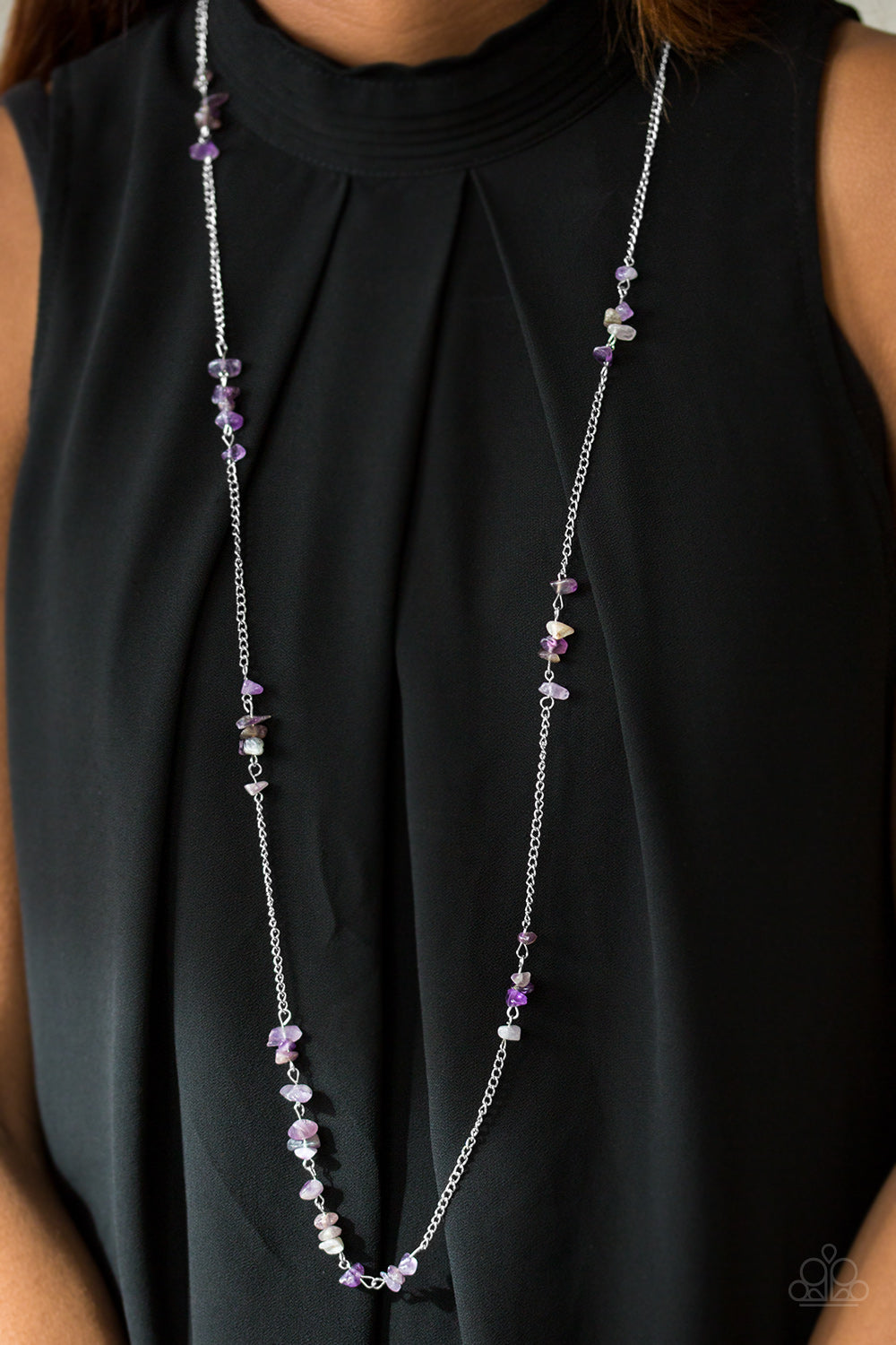 Canyon Catwalk - Purple Necklace - Paparazzi Accessories