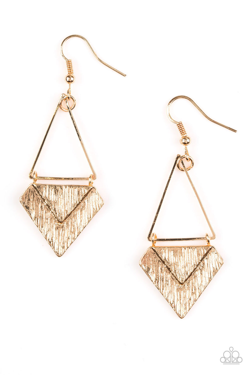 Desert Treasure - Gold Earrings - Paparazzi Accessories