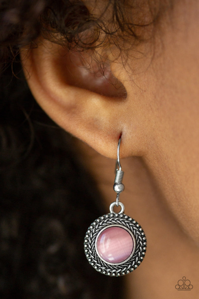Time To GLOW Up! - Pink Earrings - Paparazzi Accessories