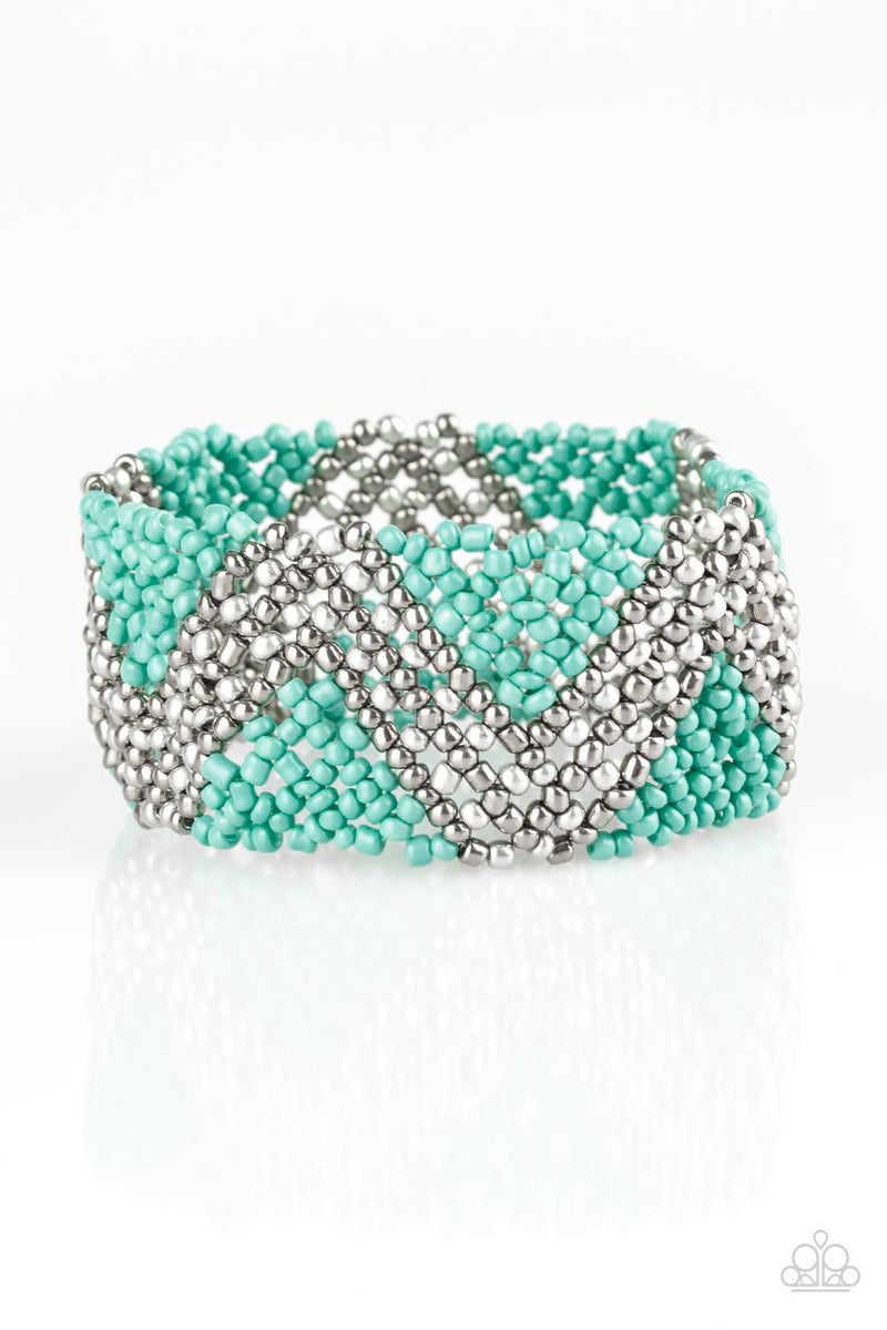 five-dollar-jewelry-desert-loom-blue-bracelet-paparazzi-accessories
