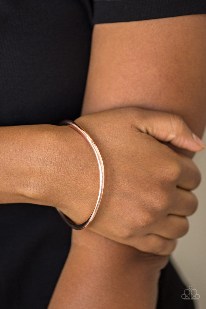 Awesomely Asymmetrical - Rose Gold Bracelet - Paparazzi Accessories
