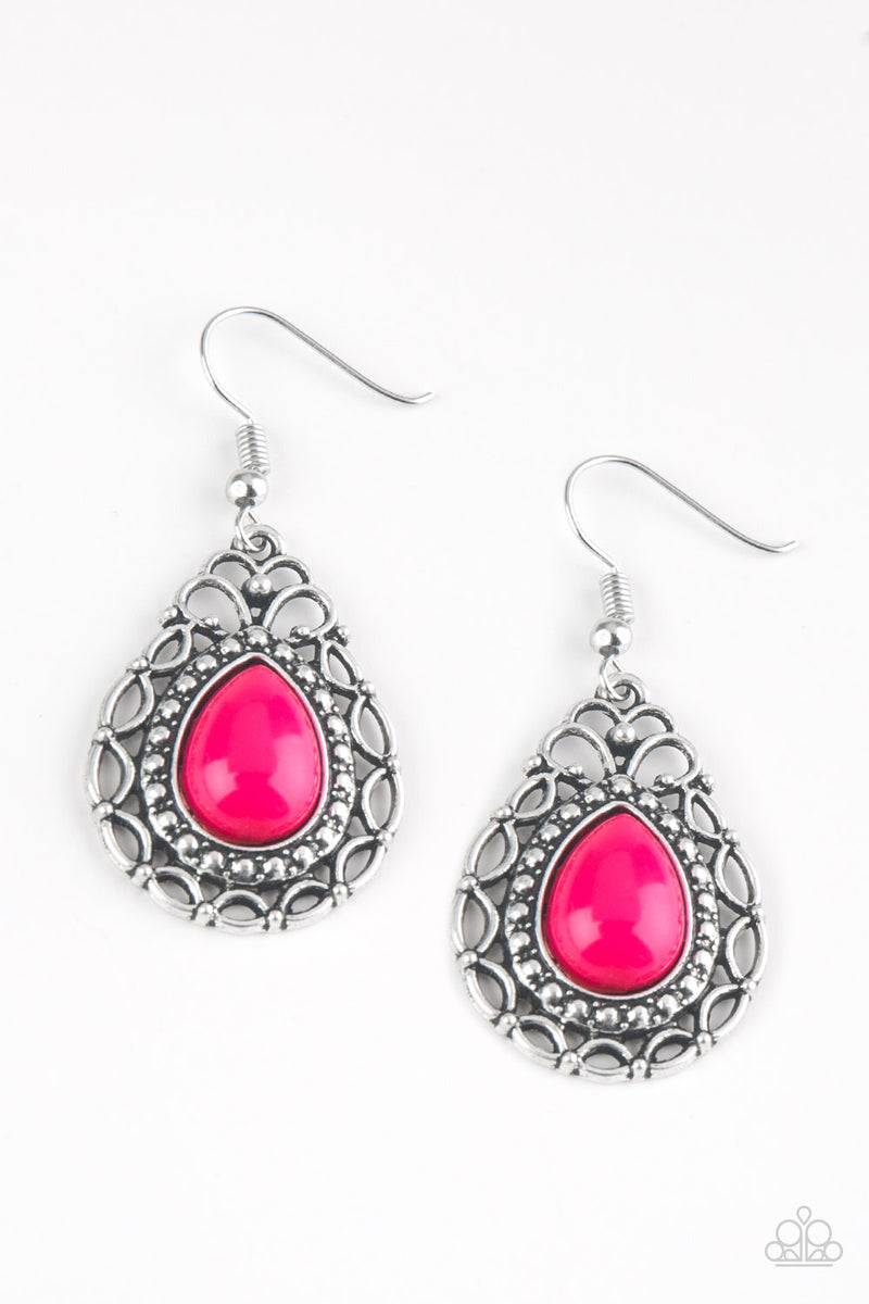 five-dollar-jewelry-flirty-finesse-pink-earrings-paparazzi-accessories