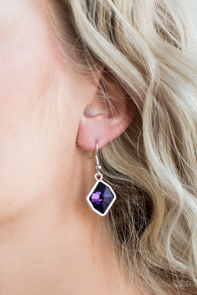 Glow It Up - Purple Earrings - Paparazzi Accessories