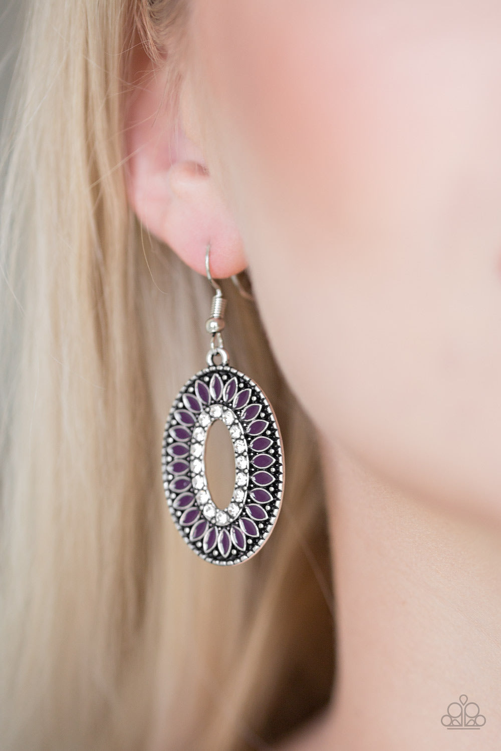 Fishing For Fabulous - Purple Earrings - Paparazzi Accessories