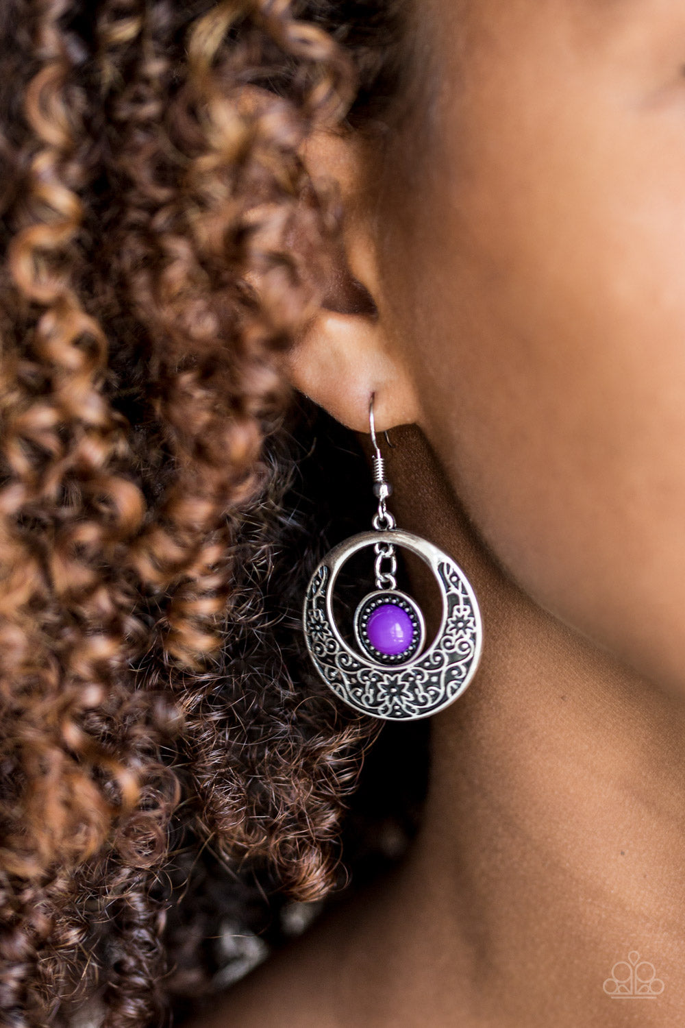 Wandering Waikiki - Purple Earrings - Paparazzi Accessories