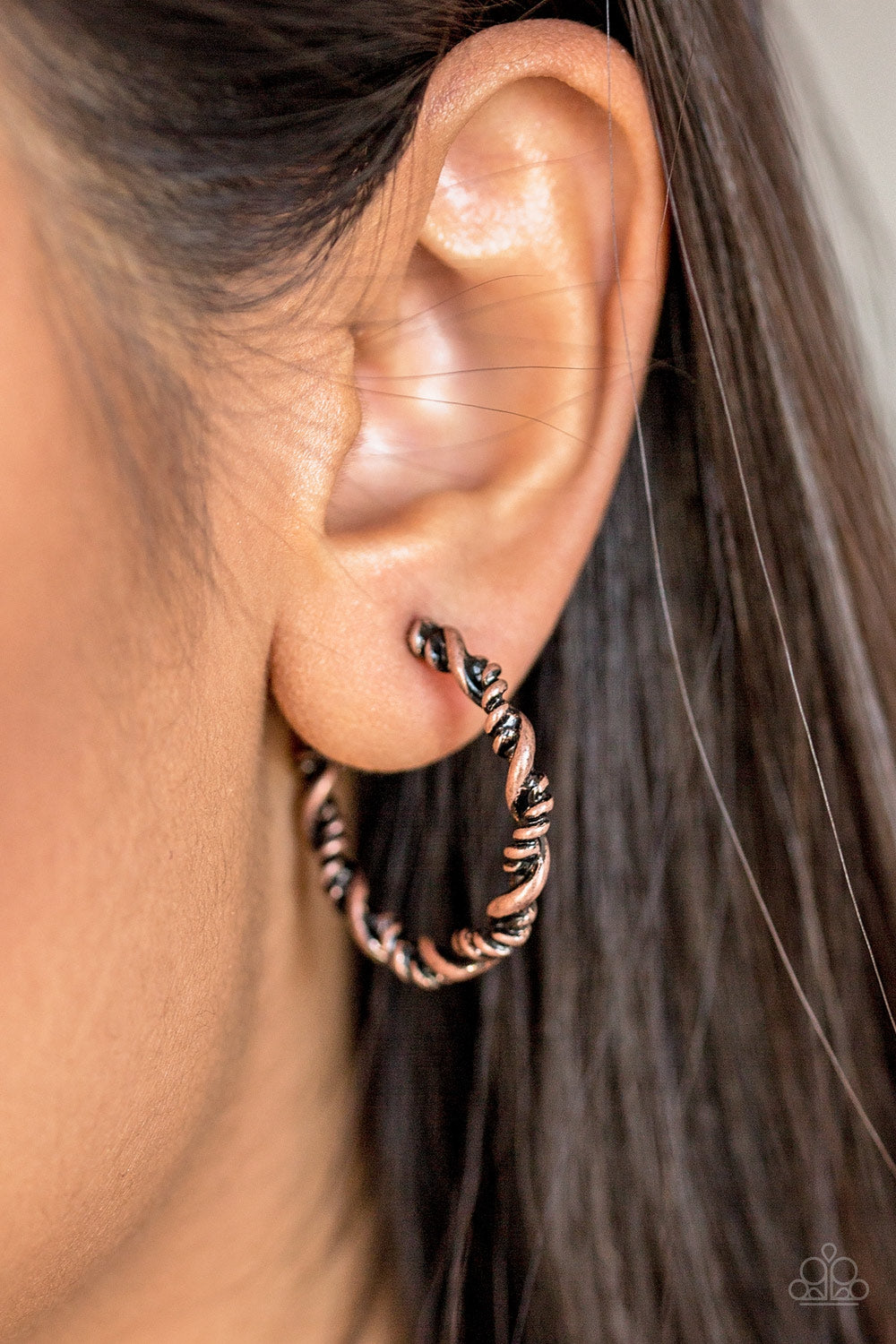 Plainly Panama - Copper Earrings - Paparazzi Accessories