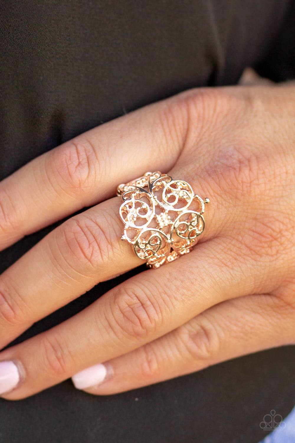 Victorian Valor - Rose Gold Ring - Paparazzi Accessories