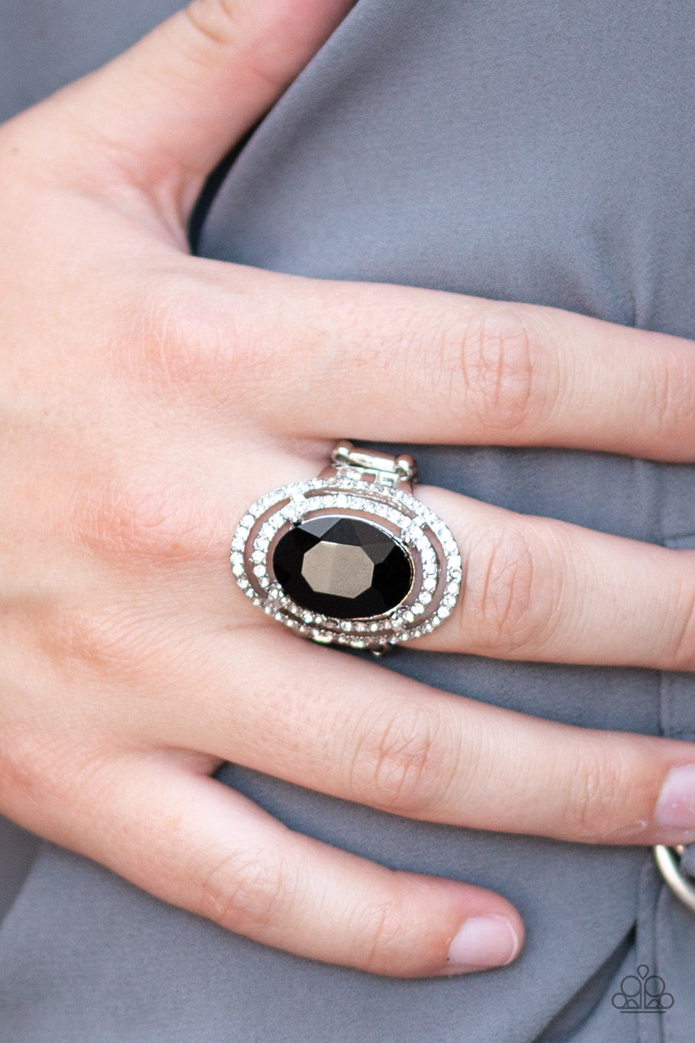 Making History - Black Ring - Paparazzi Accessories