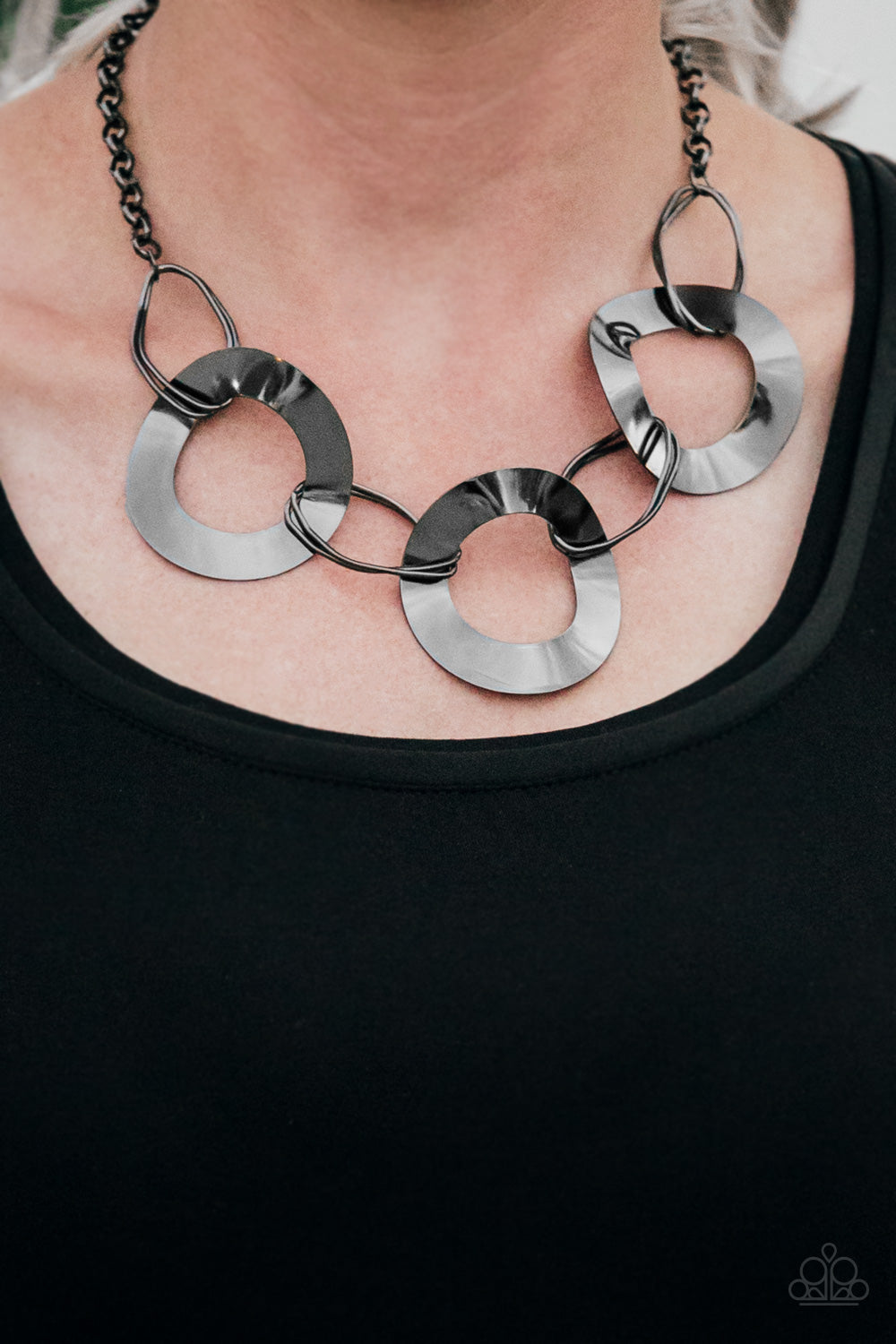 Modern Mechanics - Black Necklace - Paparazzi Accessories
