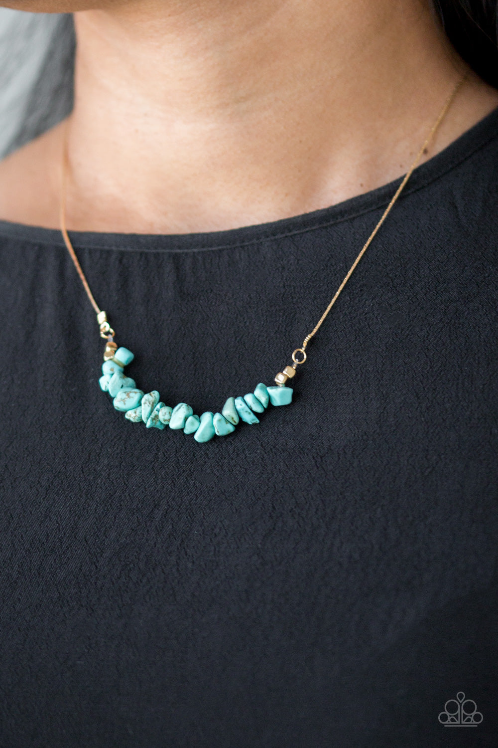 Back To Nature - Blue Necklace - Paparazzi Accessories