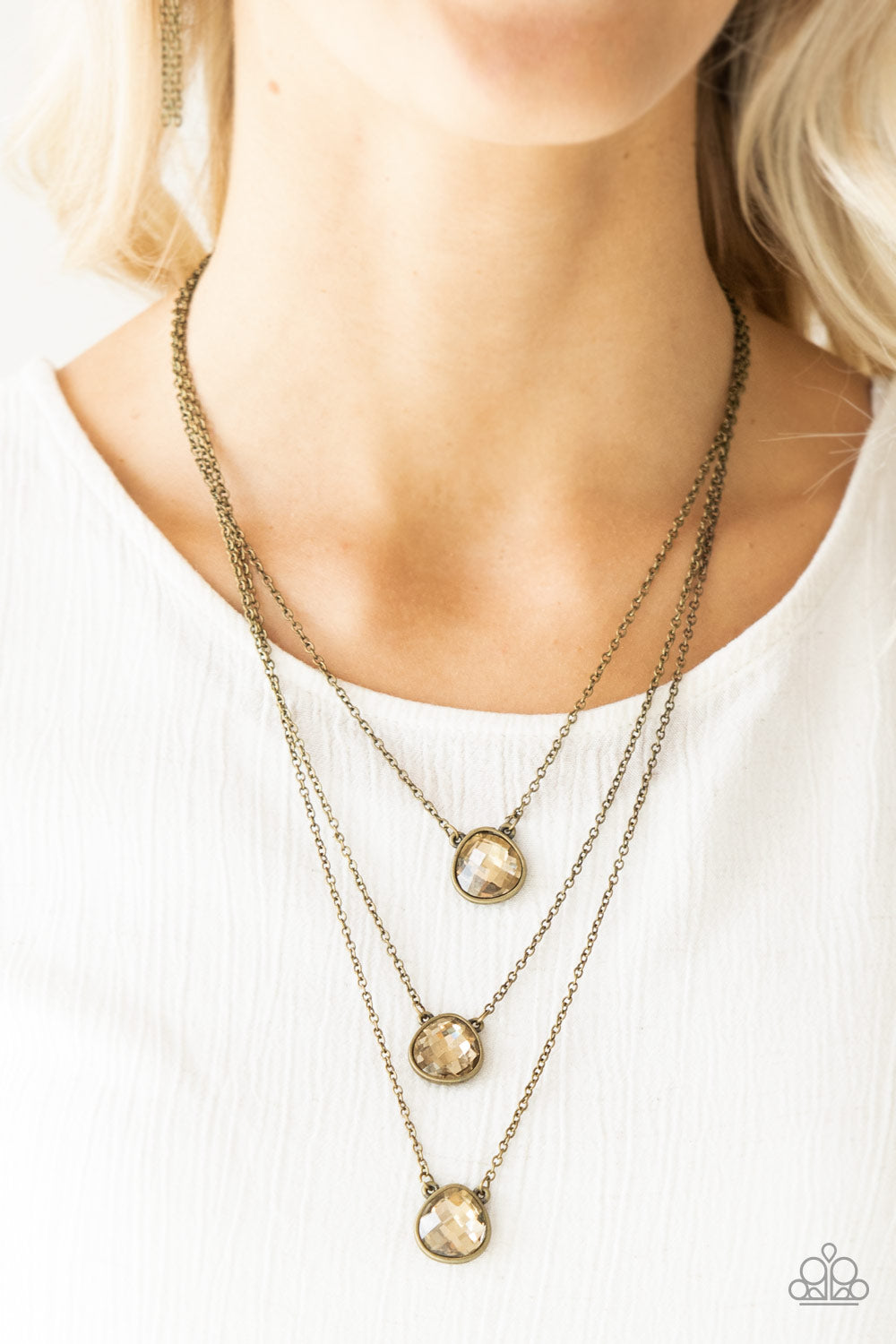 Once In A MILLIONAIRE - Brass Necklace - Paparazzi Accessories