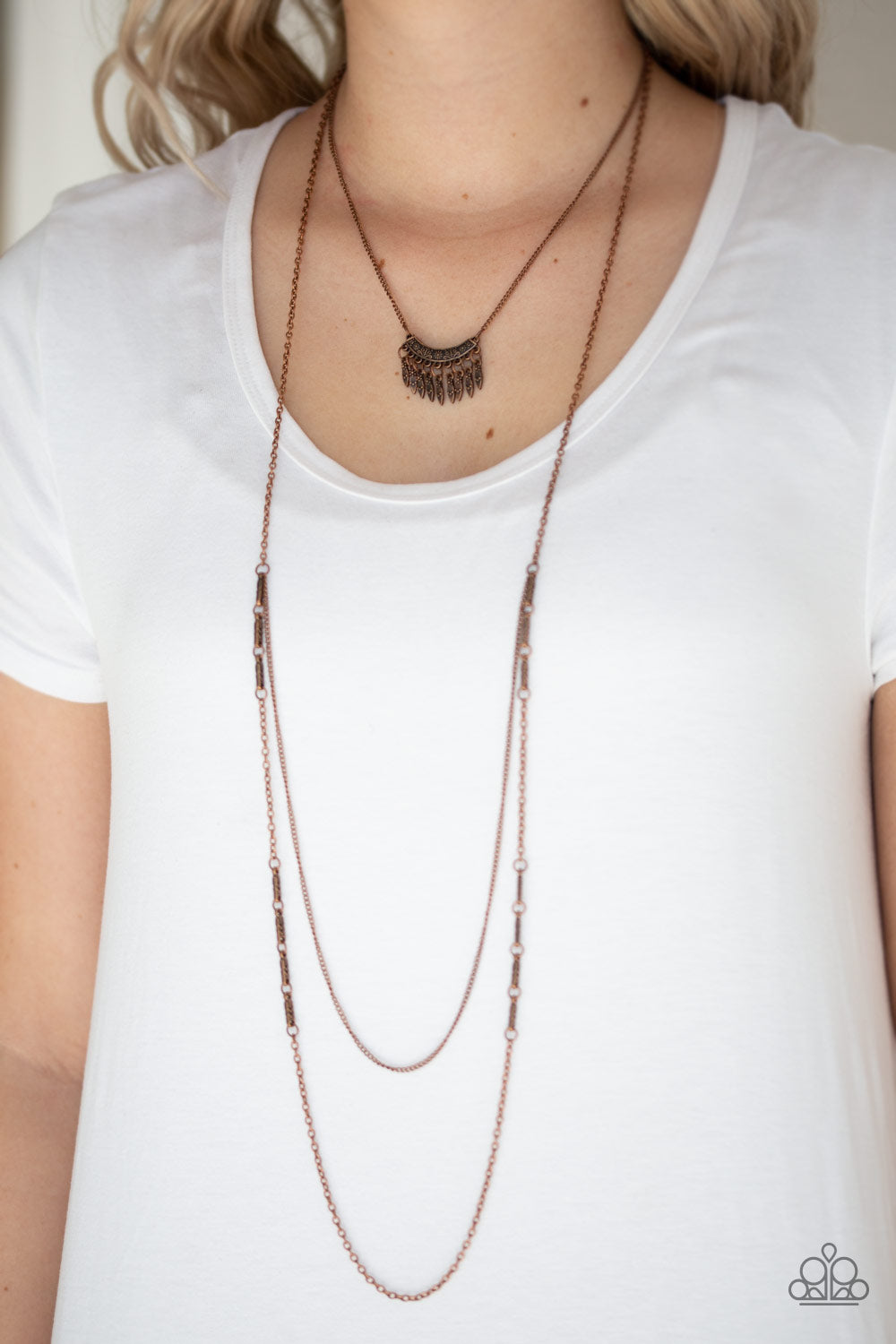 Homestead Harvest - Copper Necklace - Paparazzi Accessories