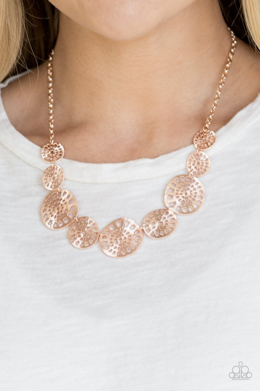 Your Own Free WHEEL - Rose Gold Necklace - Paparazzi Accessories
