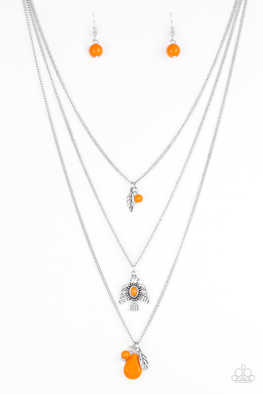 five-dollar-jewelry-soar-with-the-eagles-orange-necklace-paparazzi-accessories