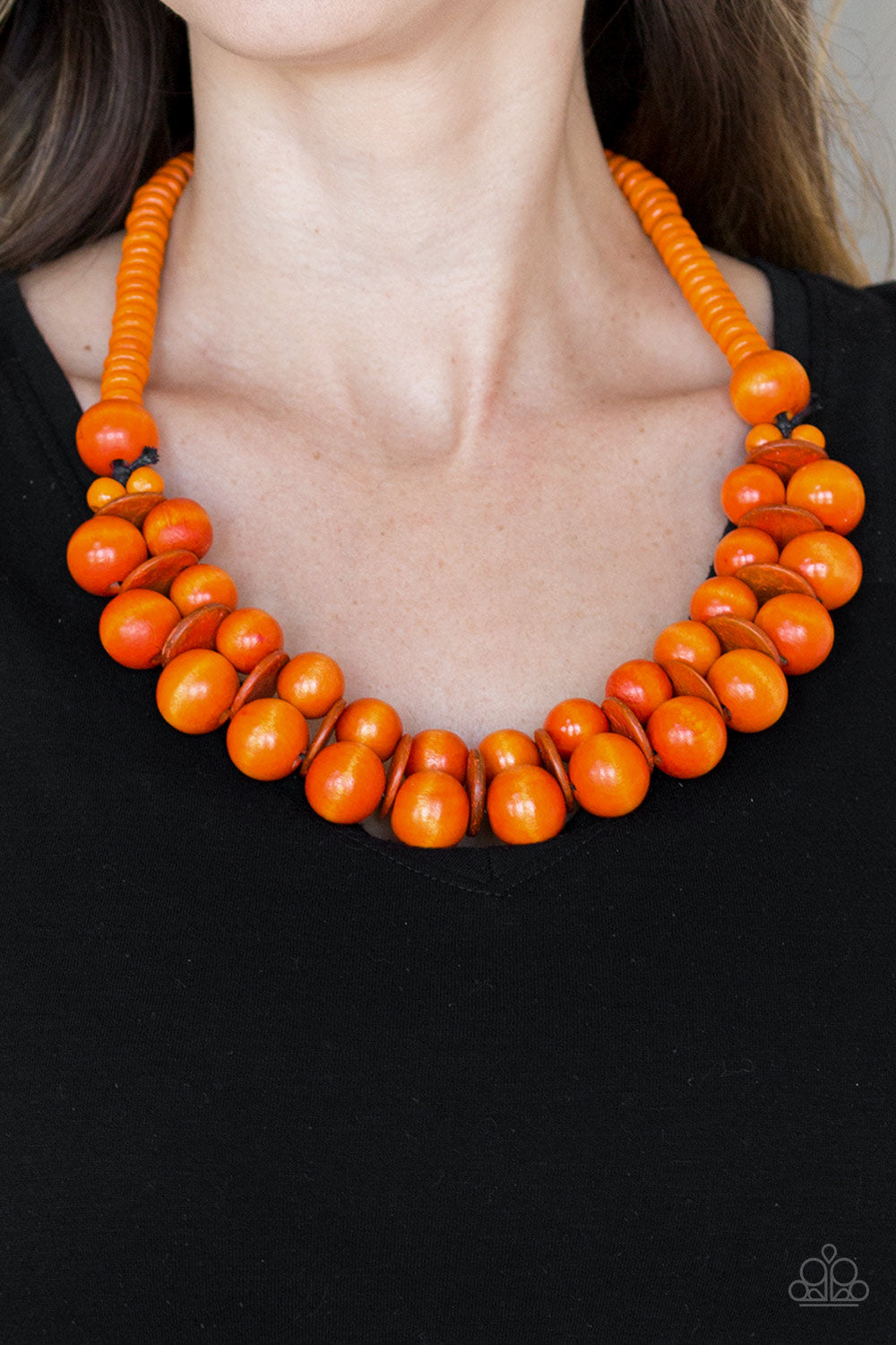 Caribbean Cover Girl - Orange Necklace - Paparazzi Accessories