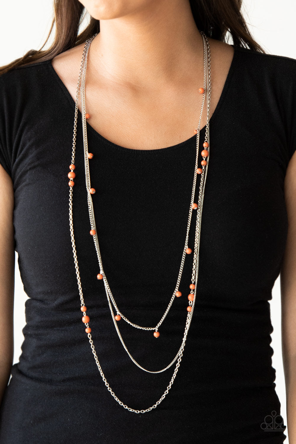 Laying The Groundwork - Orange Necklace - Paparazzi Accessories