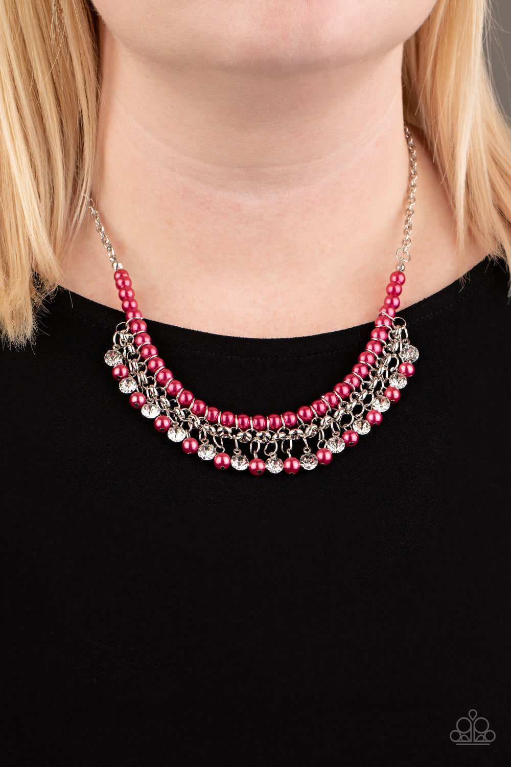 A Touch of CLASSY - Pink Necklace - Paparazzi Accessories