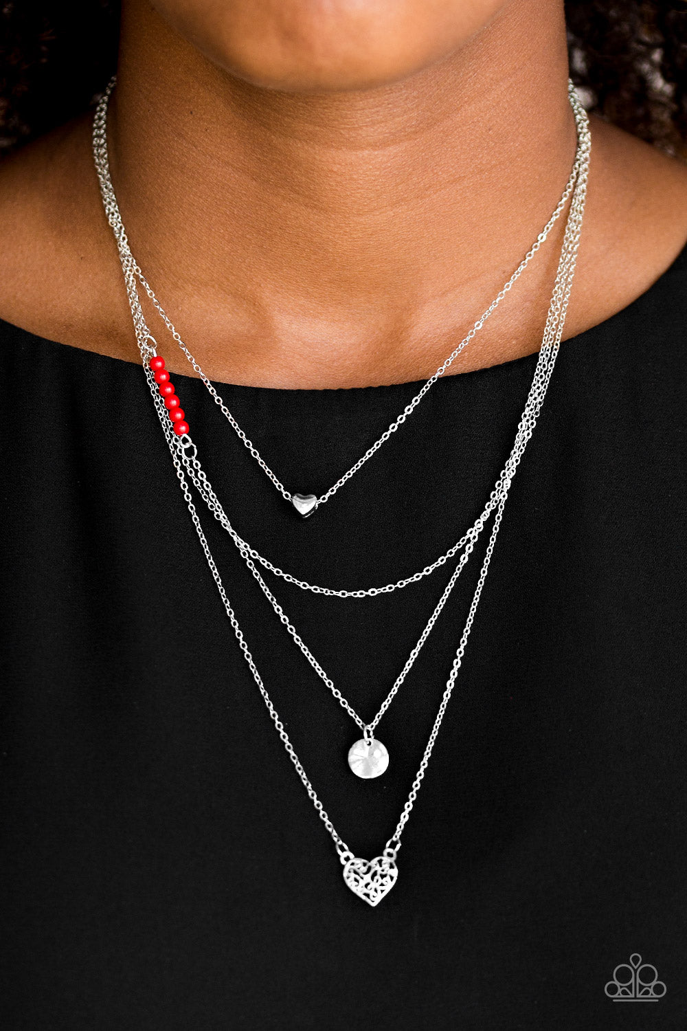 Gypsy Heart - Red Necklace - Paparazzi Accessories
