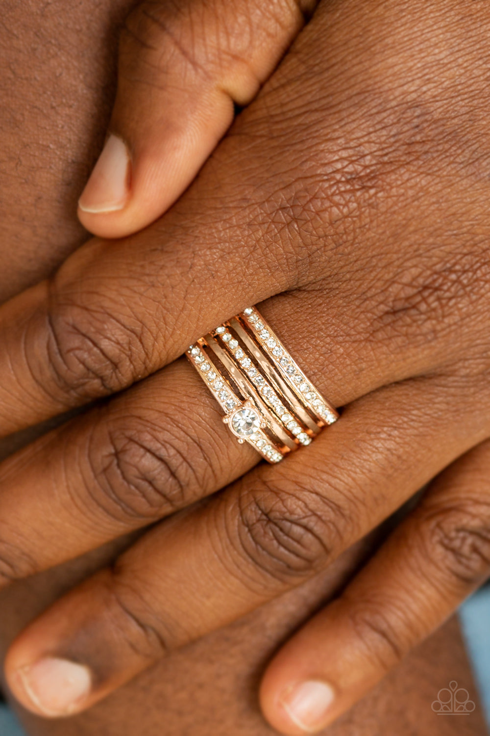 The Dealmaker- Rose Gold Ring - Paparazzi Accessories