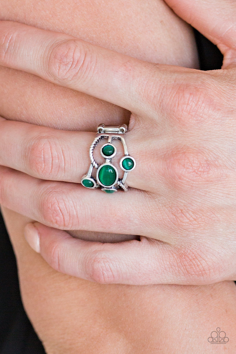 Moon Mood - Green Ring - Paparazzi Accessories
