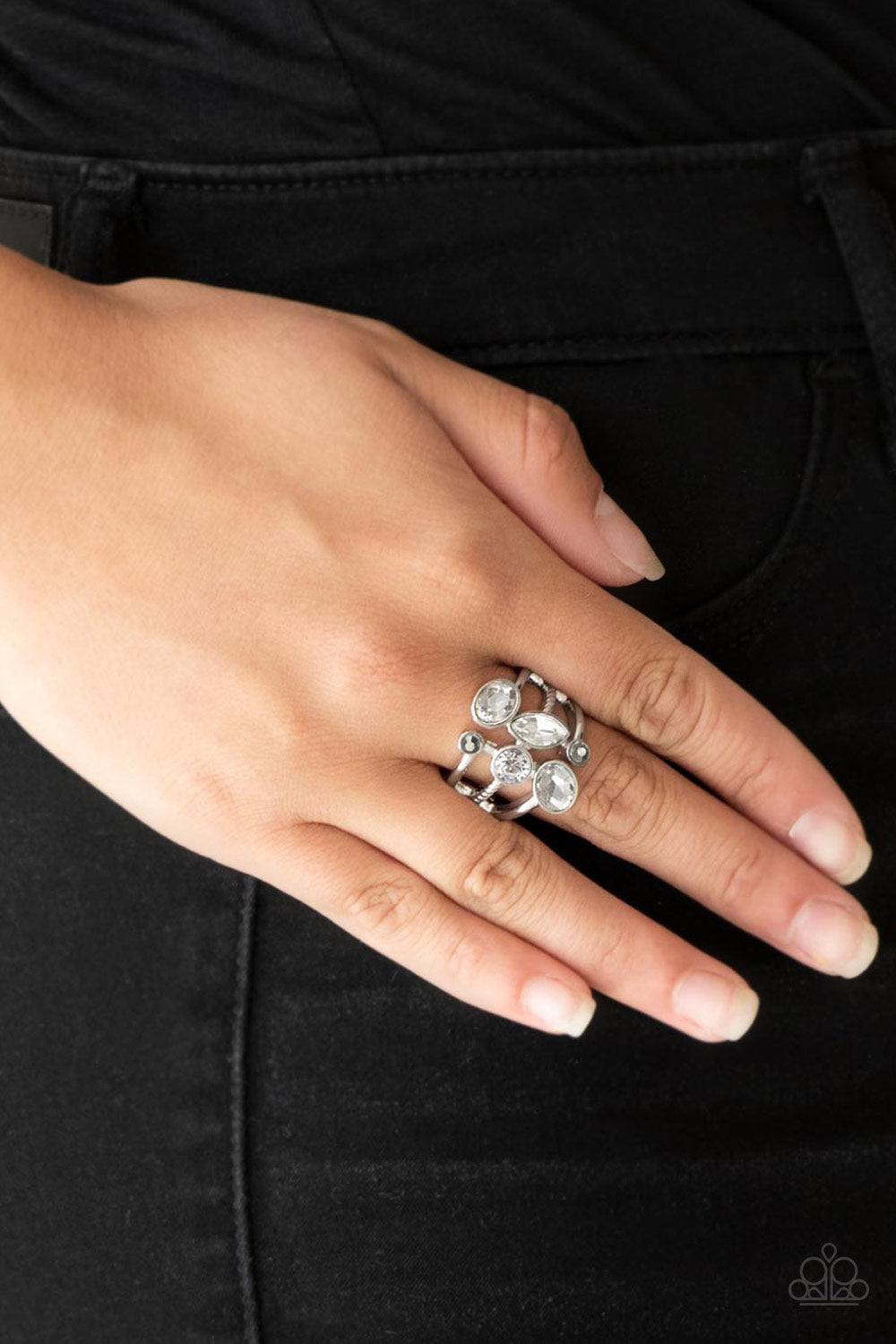 Metro Mingle - Silver Ring - Paparazzi Accessories