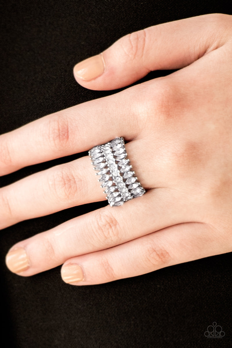 Treasury Fund - White Ring - Paparazzi Accessories