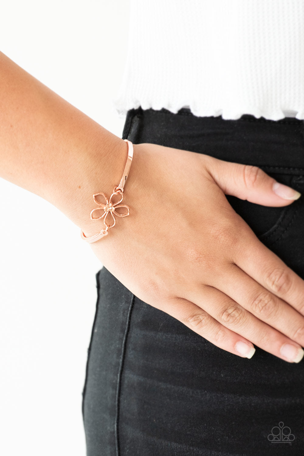 Hibiscus Hipster - Copper Bracelet - Paparazzi Accessories