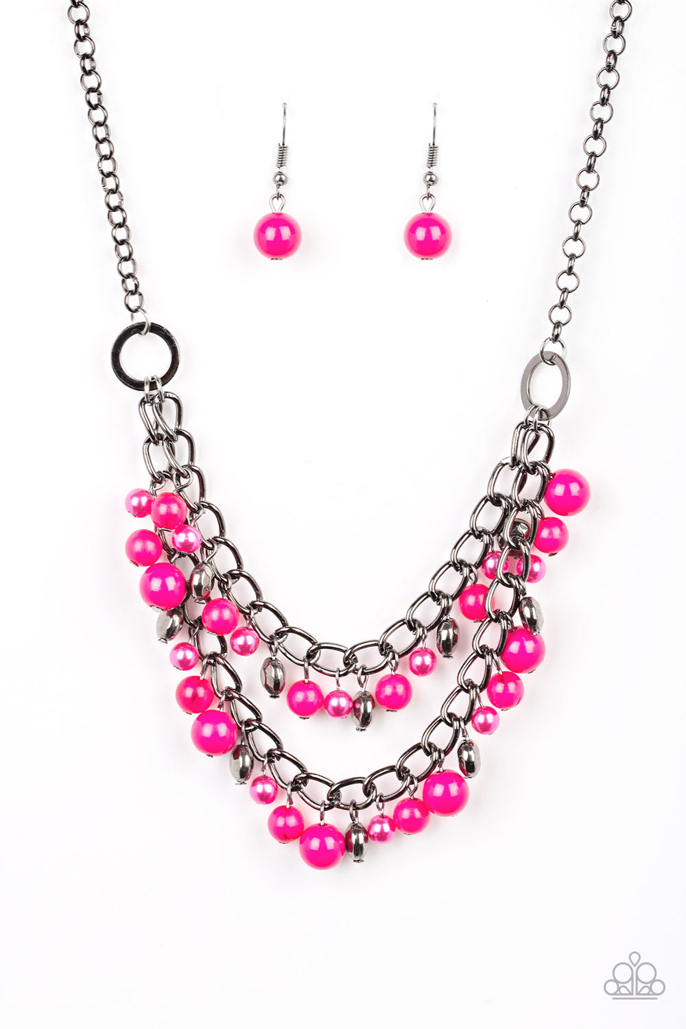 five-dollar-jewelry-watch-me-now-pink-necklace-paparazzi-accessories