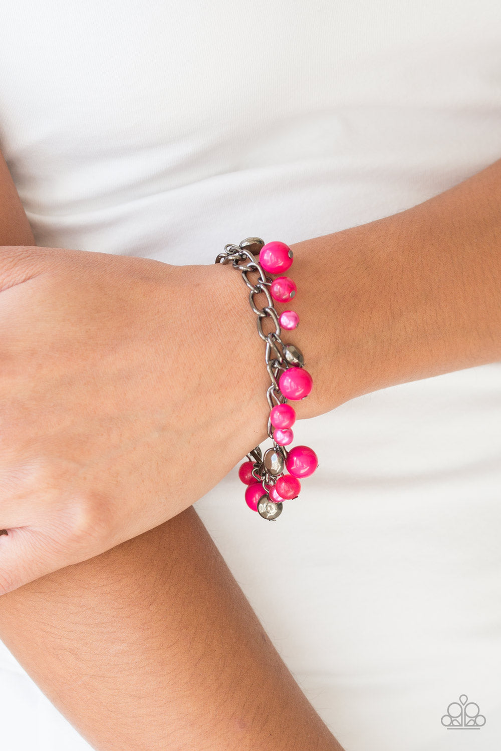Hold My Drink - Pink Bracelet - Paparazzi Accessories