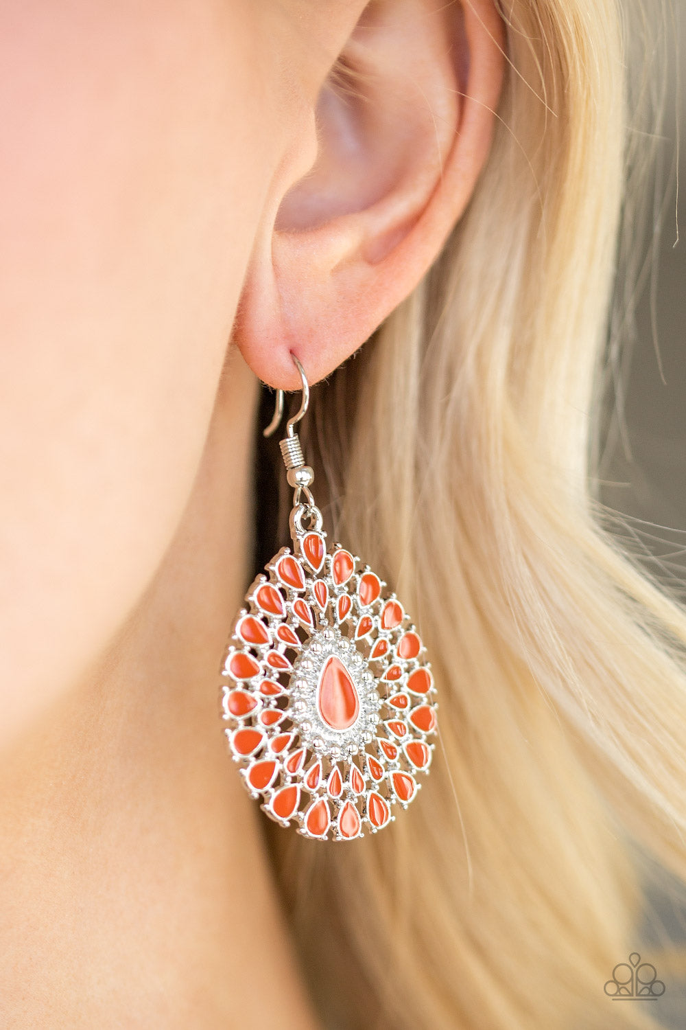 City Chateau - Orange Earrings - Paparazzi Accessories