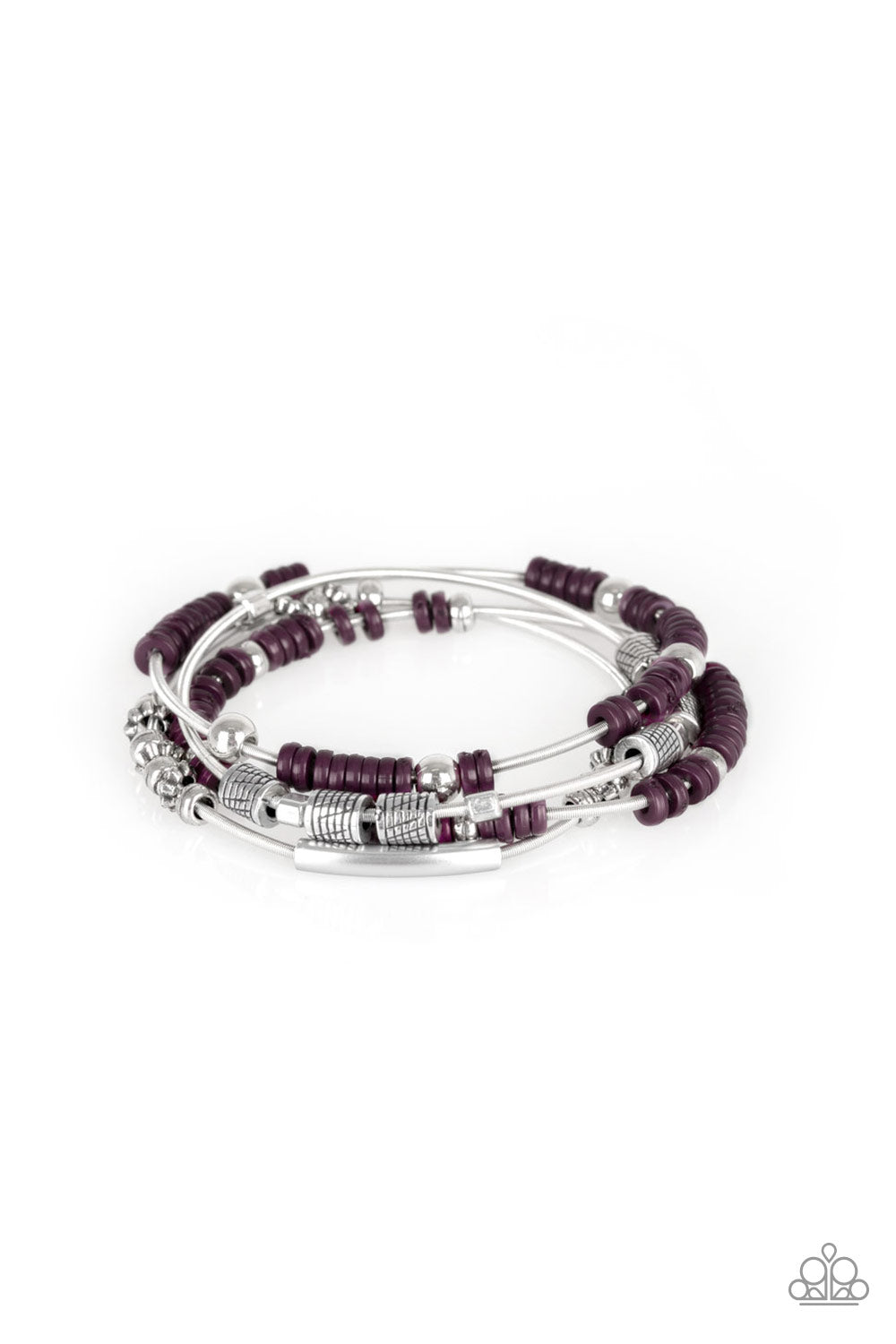 five-dollar-jewelry-tribal-spunk-purple-bracelet-paparazzi-accessories