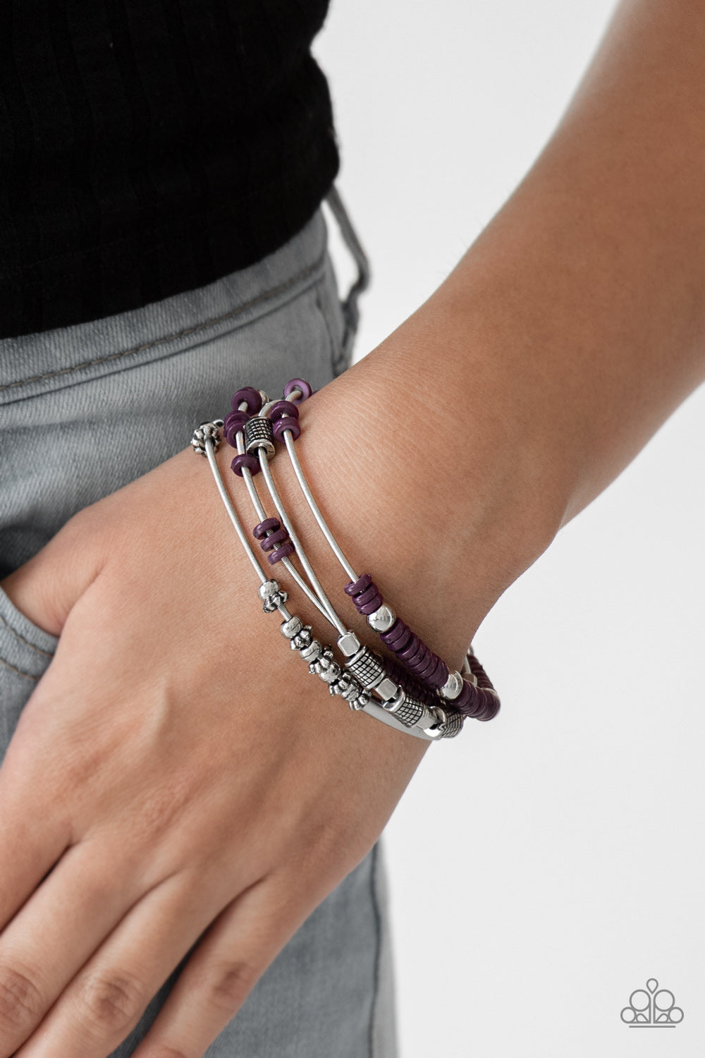 Tribal Spunk - Purple Bracelet - Paparazzi Accessories