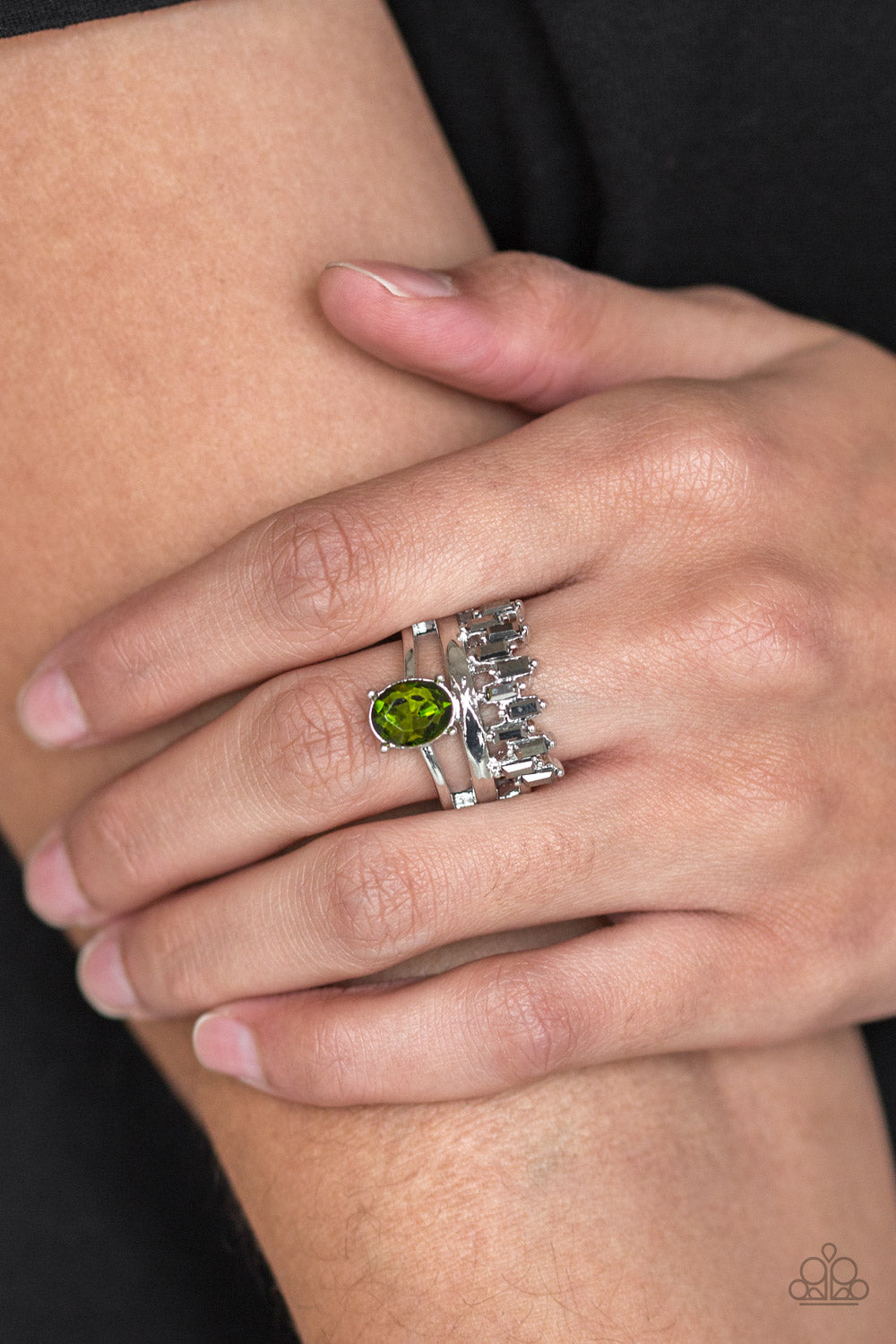 Crowned Victor - Green Ring - Paparazzi Accessories