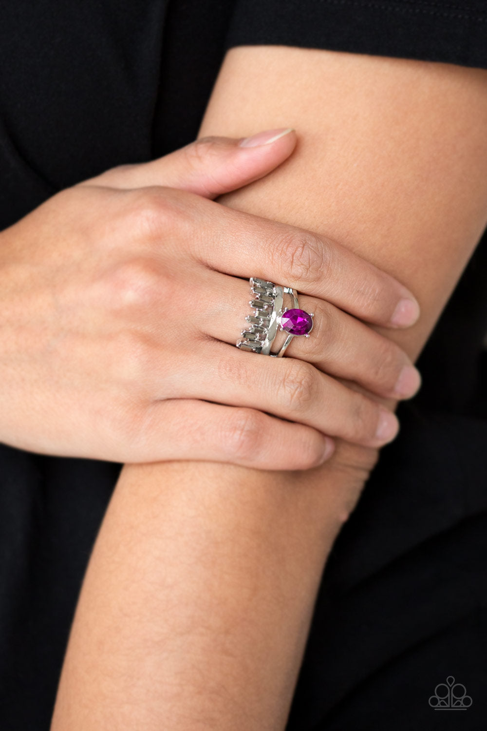 Crowned Victor - Pink Ring - Paparazzi Accessories