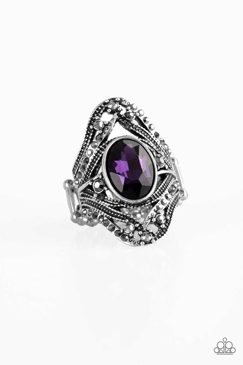 five-dollar-jewelry-red-carpet-rebel-purple-ring-paparazzi-accessories