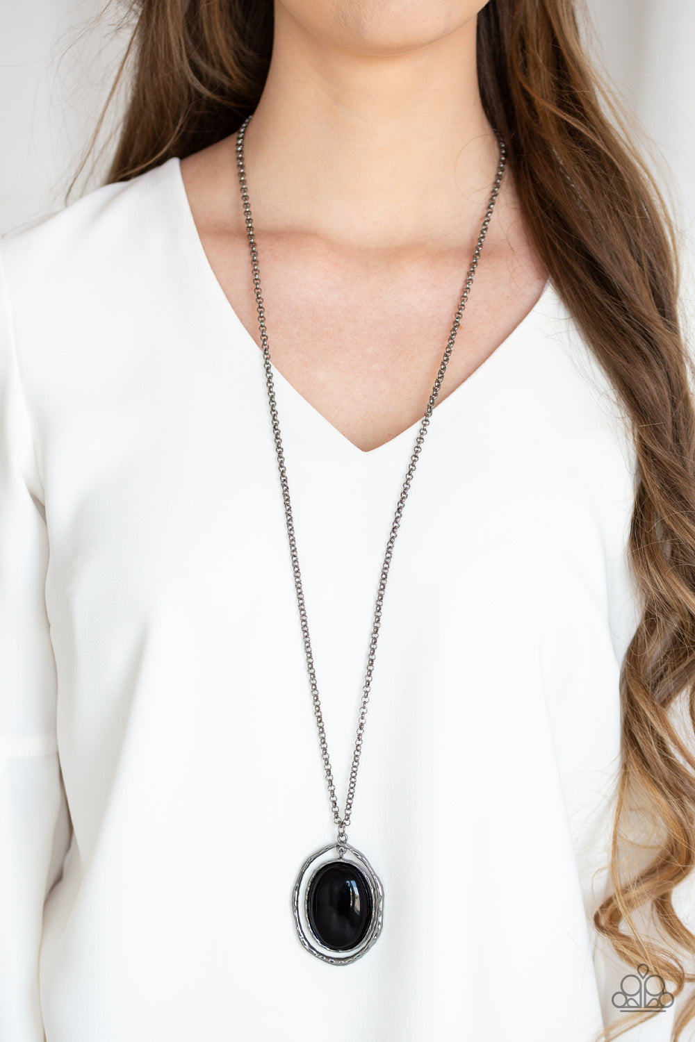 Harbor Harmony - Black Necklace - Paparazzi Accessories