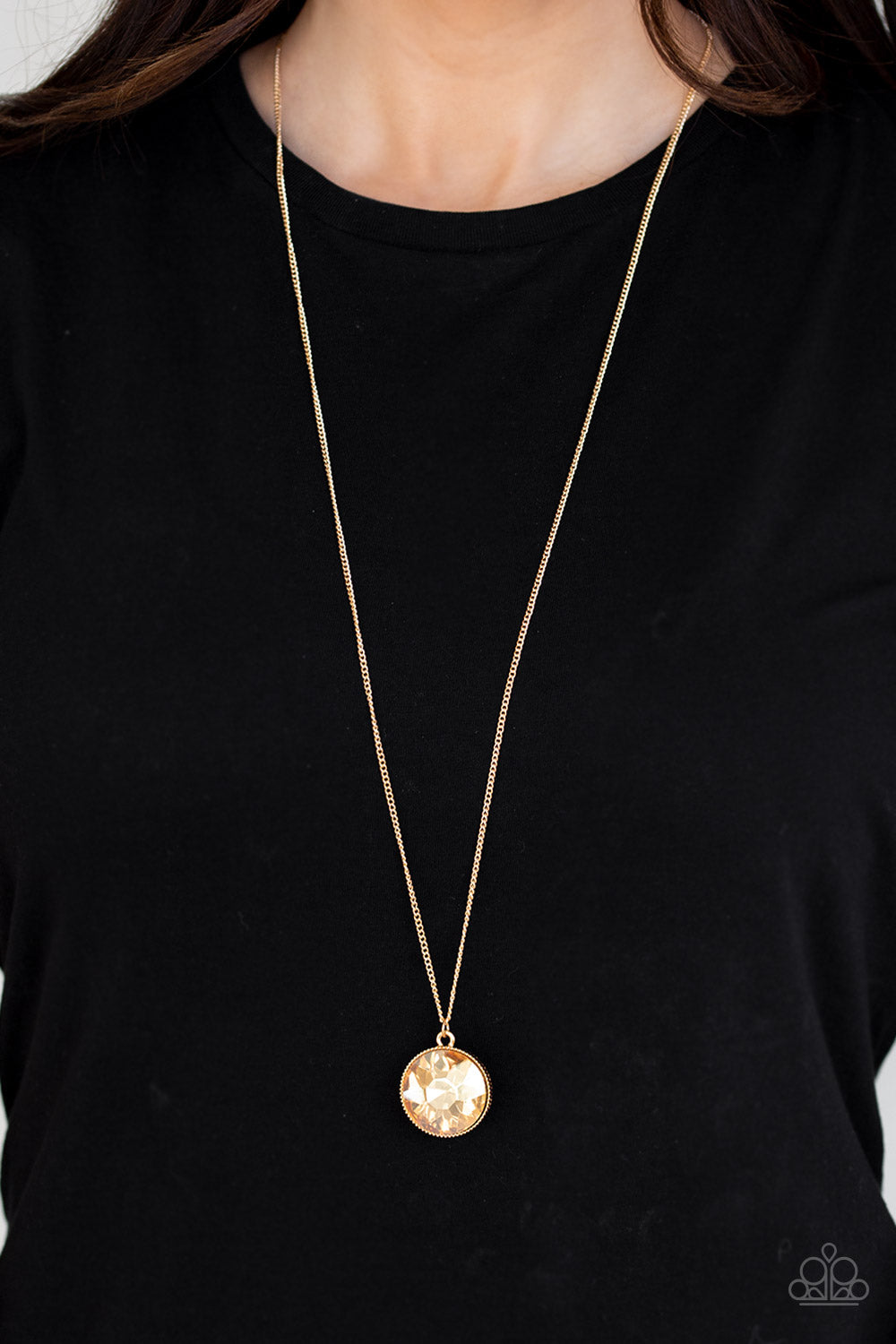 Dauntless Diva - Gold Necklace - Paparazzi Accessories