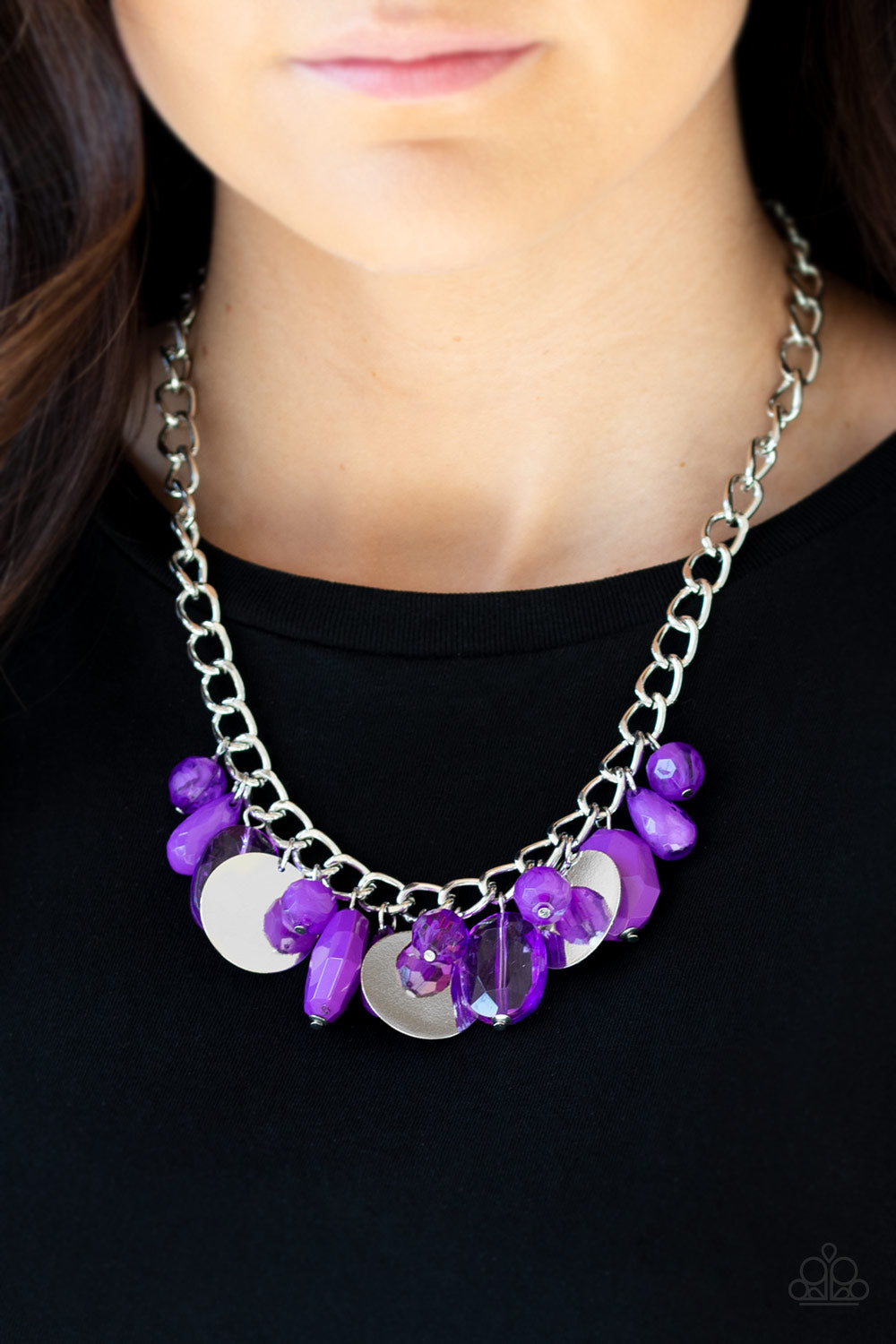 Treasure Shore - Purple Necklace - Paparazzi Accessories