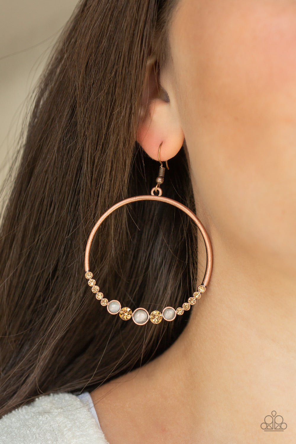 Dancing Radiance - Copper Earrings - Paparazzi Accessories