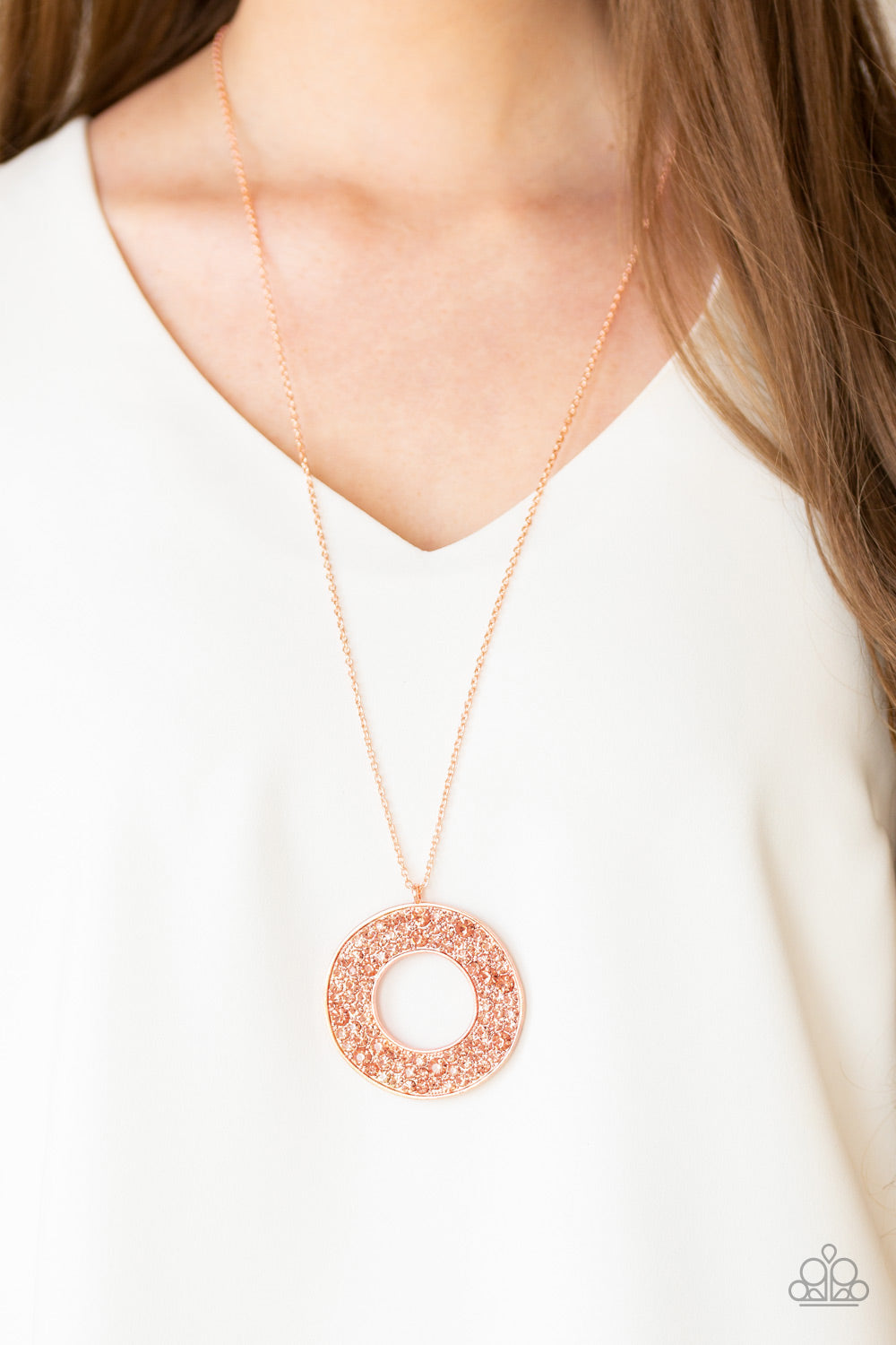 Bad HEIR Day - Copper Necklace - Paparazzi Accessories