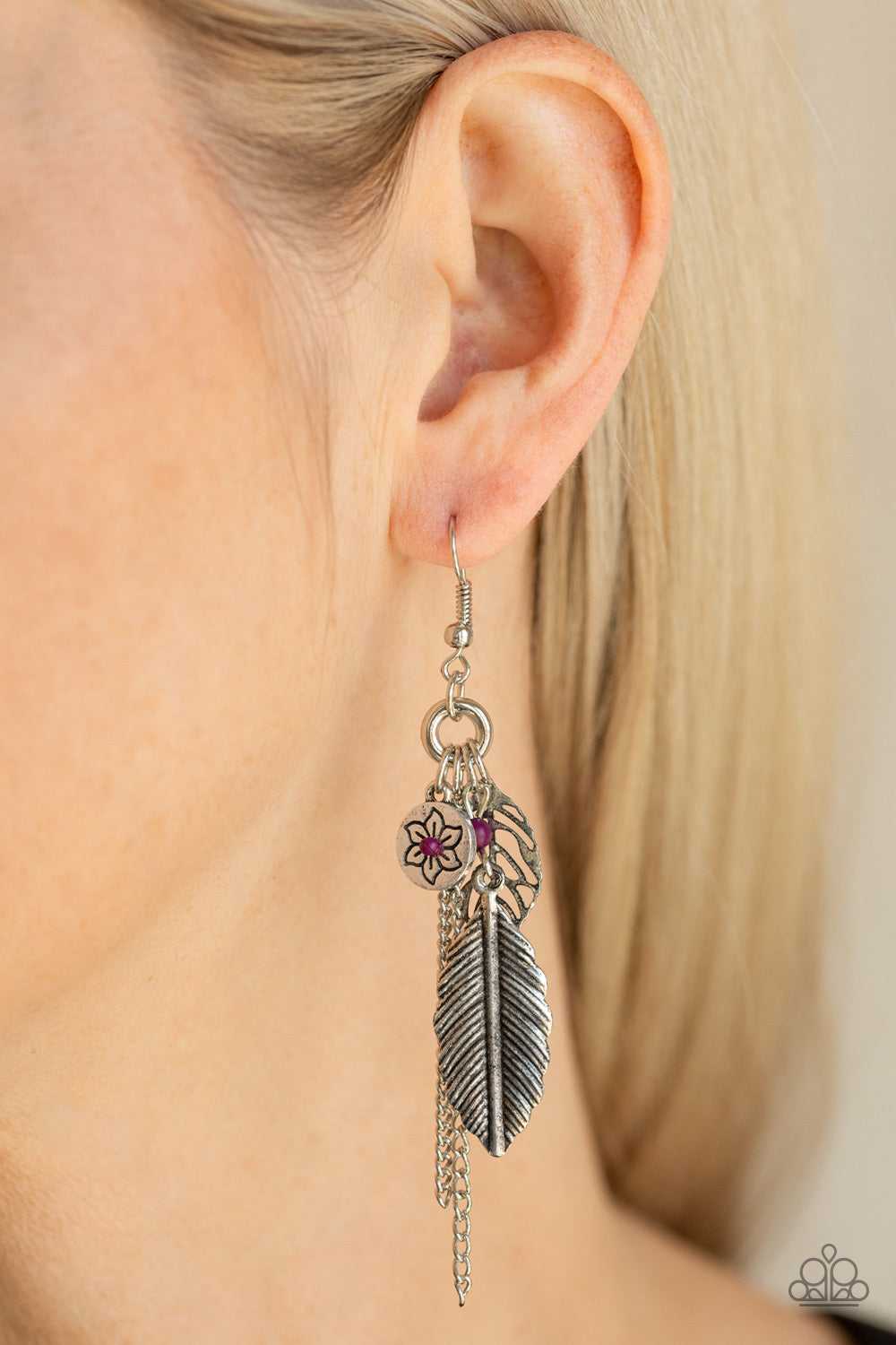 Western Whimsicality - Purple Earrings - Paparazzi Accessories