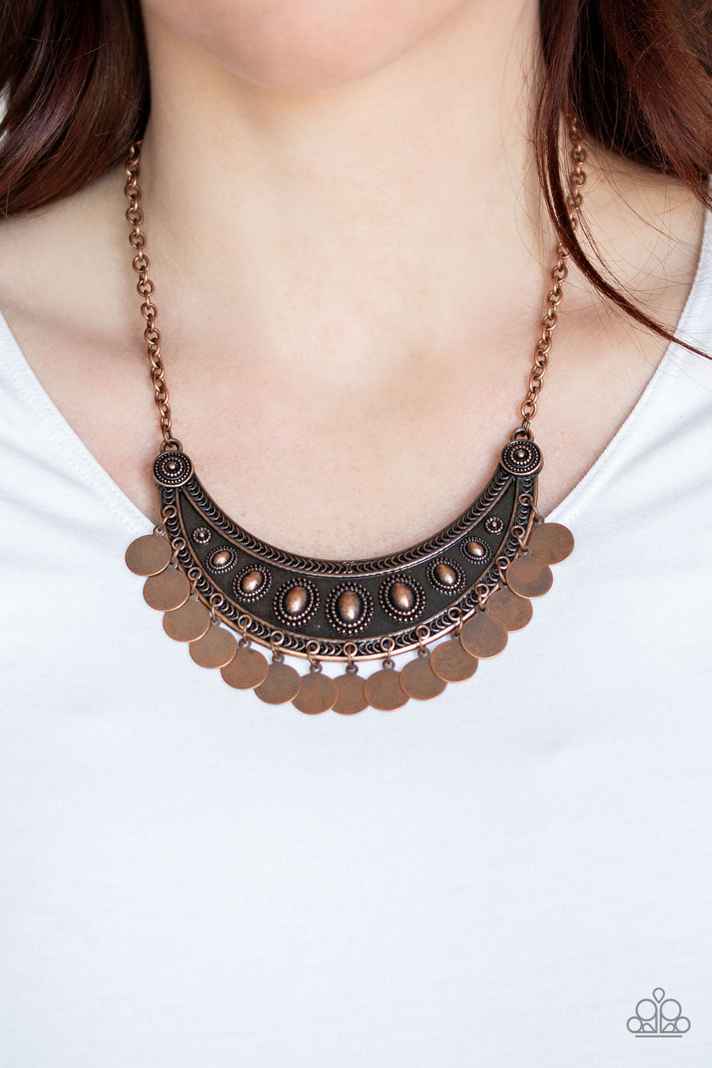 CHIMEs UP - Copper Necklace - Paparazzi Accessories