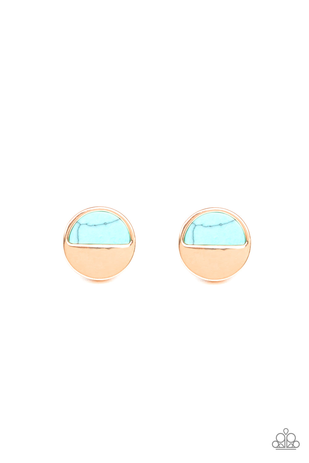 five-dollar-jewelry-marble-minimalist-blue-post earrings-paparazzi-accessories