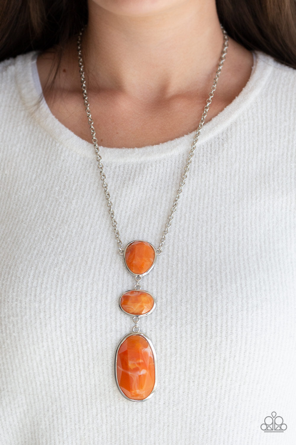 Making an Impact - Orange Necklace - Paparazzi Accessories
