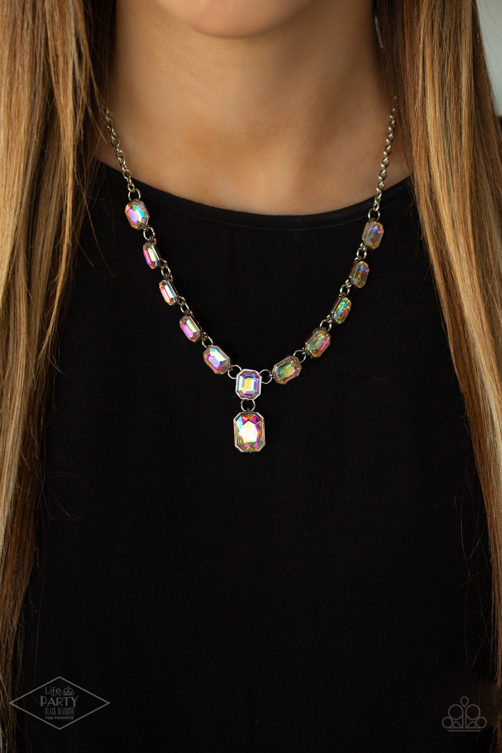 The Right To Remain Sparkly - Multi Necklace - Paparazzi Accessories